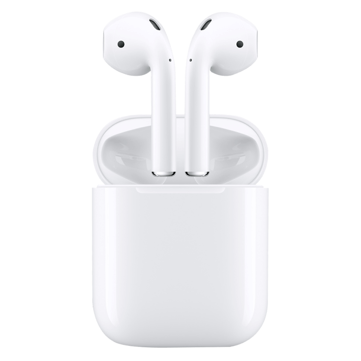 Airpods med fodral.