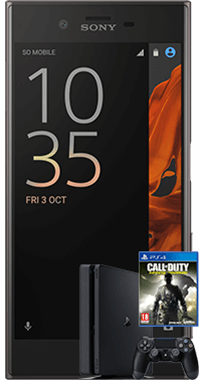 Xperia XZ med PS4 och COD