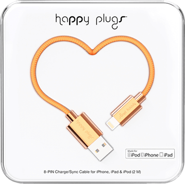 Happy Plugs Lightning till usb-kabel 2,0 m