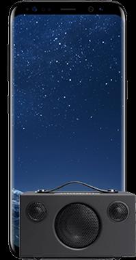 Galaxy S8 med Audio Pro T3