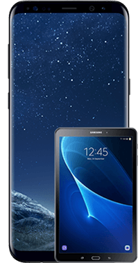Galaxy S8 Plus med Tab A 10.1