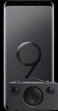 Galaxy S9 med Audio Pro T3